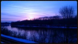 walking along the Mississippi without freezing!