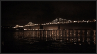 the Bay Bridge light show