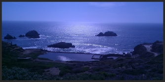 the Sutro Bath ruins and the Pacific Ocean!