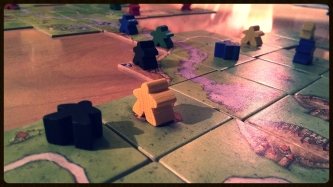 Carcassonne. One of my favorite board games.