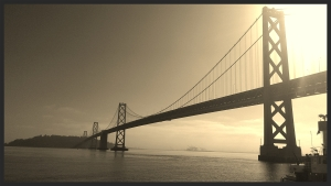 the Bay Bridge in the early a.m.