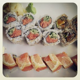 ate sushi