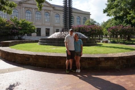 Fountain on the University of Arkansas campus