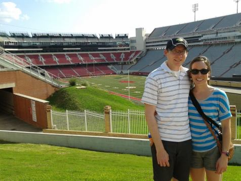 Our first day in Arkansas, touring the University of Arkansas campus!
