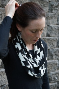 Black and White Infinity Scarf {Aztec Cowl}