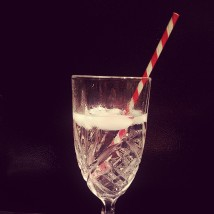 finding happiness in the little things... such as red and white barber shop straws!