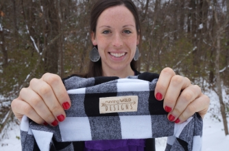 Holiday Plaid Scarf with tags! {Flannel Cowl}