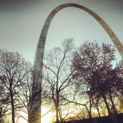 I saw the St. Louis arch for the first time!