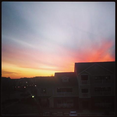 sunset in Fayetteville, AR