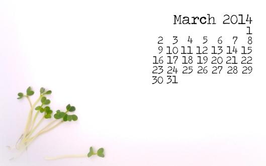 March free desktop calendar download