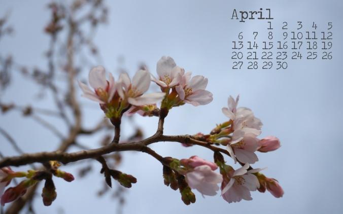April 2014 Desktop Calendar Download