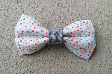 ORGANIC and RECYCLED colorful confetti boy bow tie