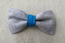 ORGANIC and RECYCLED blue boy bow tie
