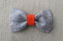 ORGANIC and RECYCLED orange boy bow tie