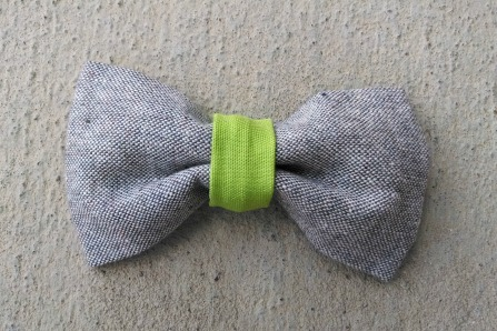 ORGANIC and RECYCLED green boy bow tie