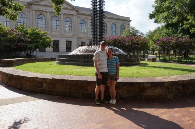 University of Arkansas water fountain