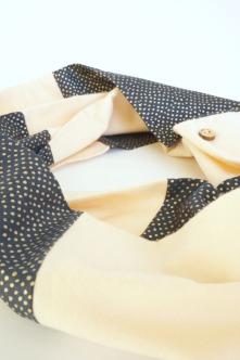 organic pink infinity scarf by Running Wild Designs