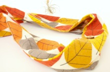 organic autumn leaf infinity scarf by Running Wild Designs