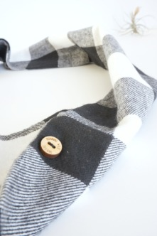 black and white flannel infinity scarf by Running Wild Designs