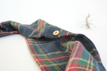 blue plaid infinity scarf by Running Wild Designs