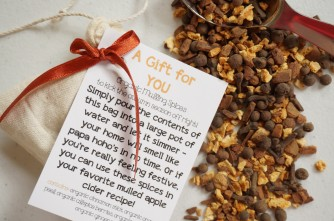 FREE Organic Mulling Spice Gift Included with all Infinity Scarf Purchases!