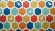 organic fabric, beehive