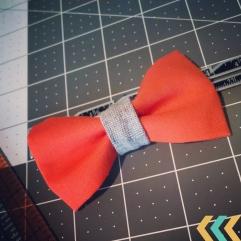 orange bow tie_organic cotton_recycled hemp_boy