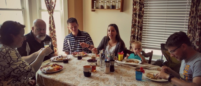Family weekends in our new Iowa City home call for Sunday morning pancake breakfasts!