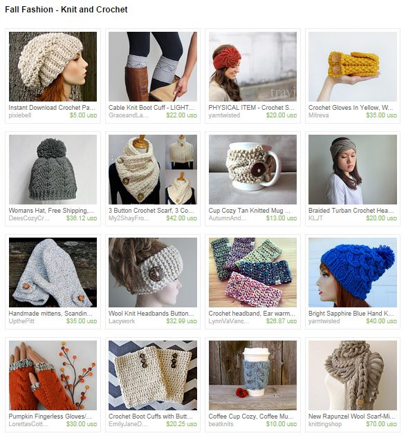 Tuesday Treasures: Fall Fashion Knit and Crochet