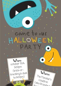 free download for Halloween party invite