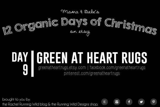 Etsy 12 Organic Days of Christmas for Mama & Baby | Green At Heart Rugs