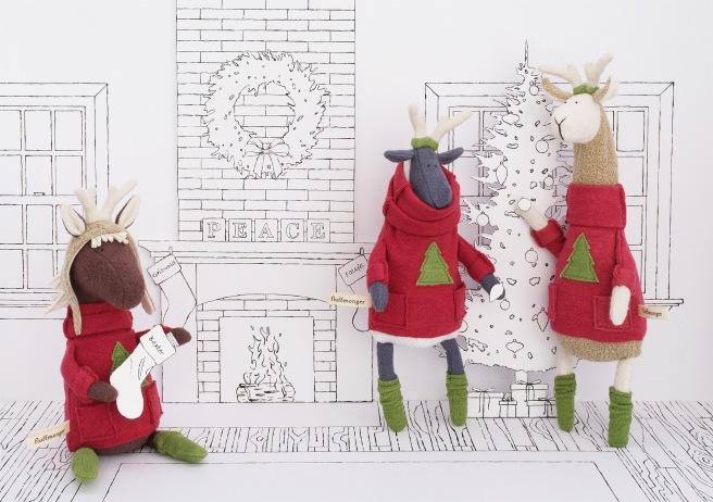 shop fluffmonger on etsy!   Christmas Horse, Sheep, and Llama Copyright Fluffmonger 2014