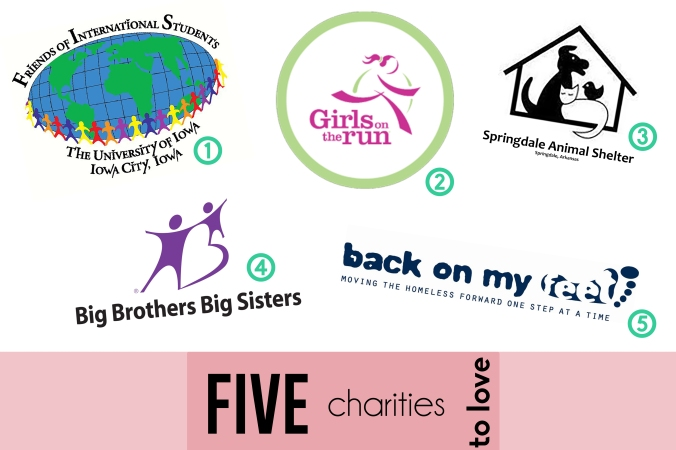 Five Charities To Love | by the Rachel Running Wild blog