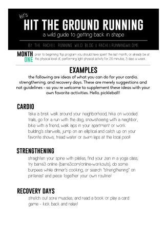 Fitness Series Workout Ideas   by the Rachel Running Wild blog   rachelrunningwild.me